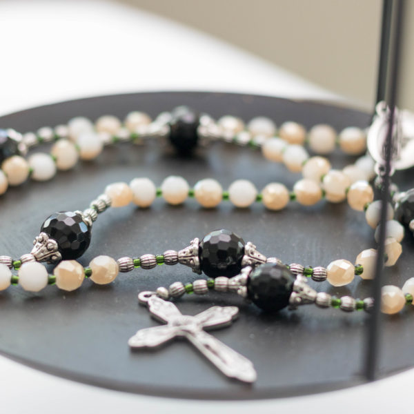 Black + Tan Catholic Rosary